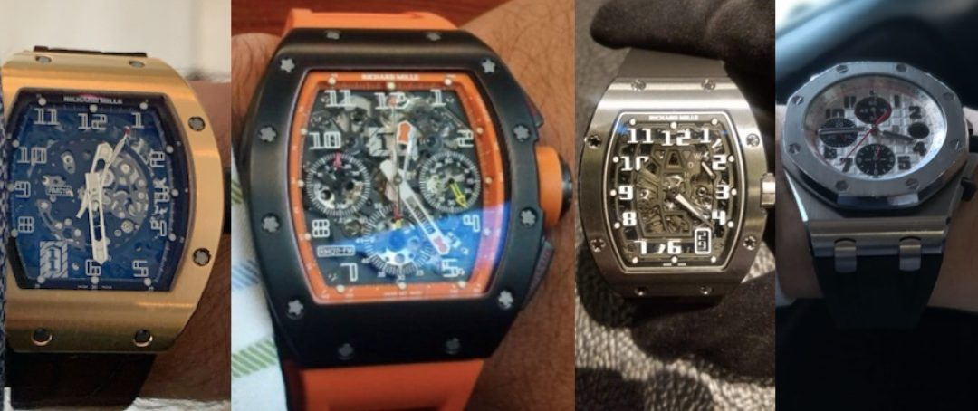 Four Watches Reported Stolen